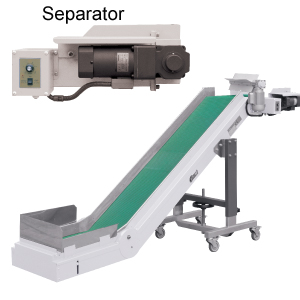 horizontal infeed nose-over conveyors